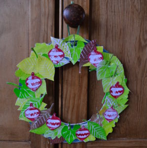 12 Days of Making (2) A printed wreath